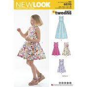 6570 New Look Pattern: Girls' Dresses